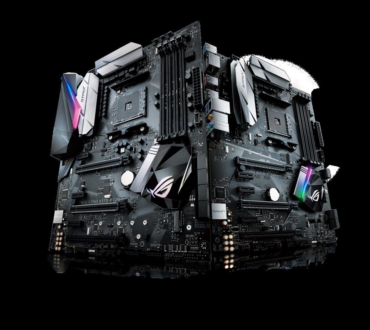 ROG Strix X370-F Gaming, B350-F Gaming