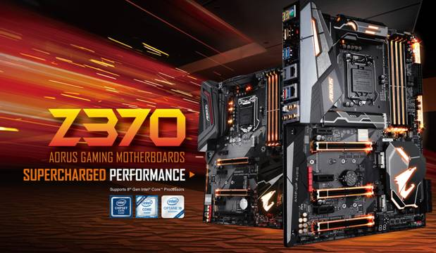 GIGABYTE Introduces Z370 AORUS Motherboards
