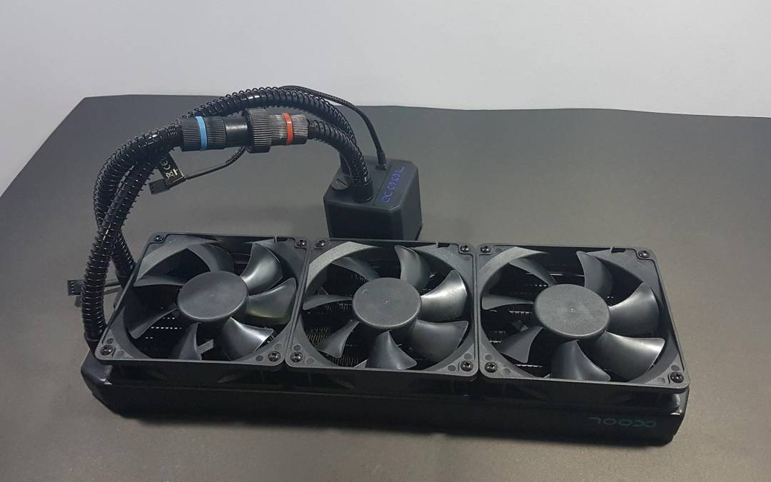 Alphacool Eisbaer 360mm Modular AIO CPU Cooler – Black
