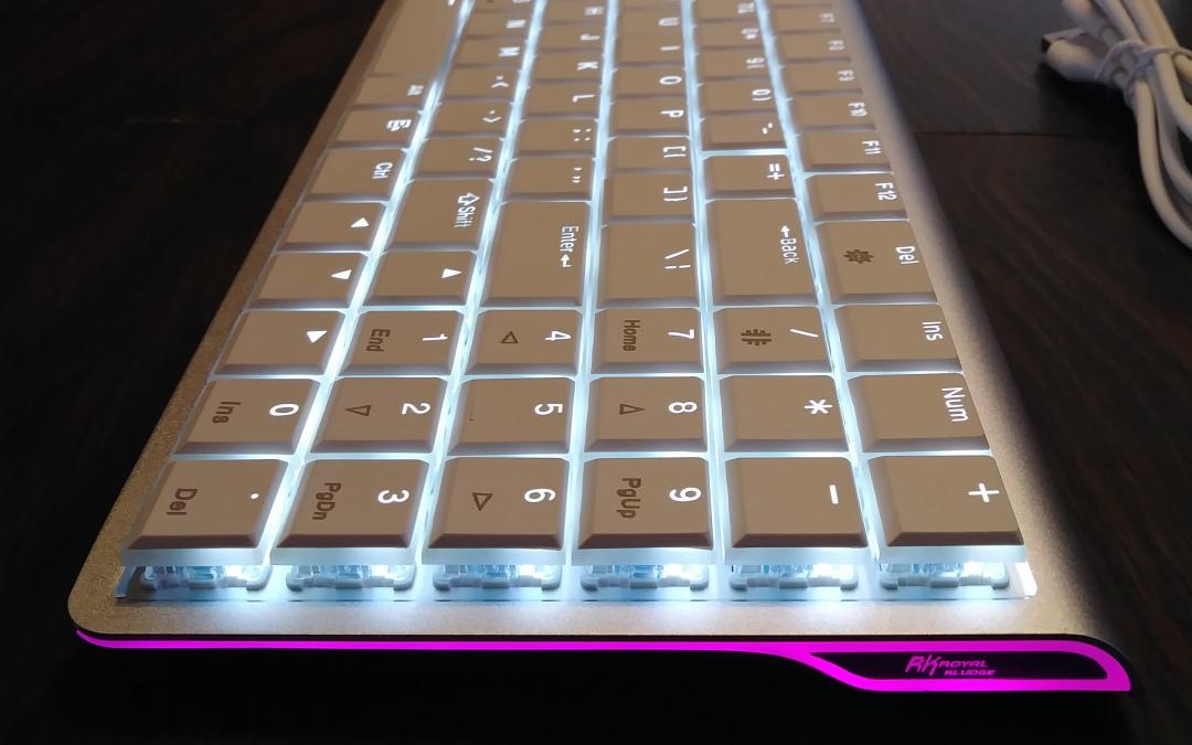 "DREVO ""Joyeuse"" 96Key Ultra-Thin Aluminium Alloy – White LED – Wireless Bluetooth 3.0 – Mechanical Keyboard"