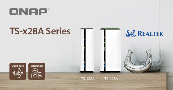 QNAP Launches TS-x28A Series with Snapshot Support for a Complete Digital Experience for Homes