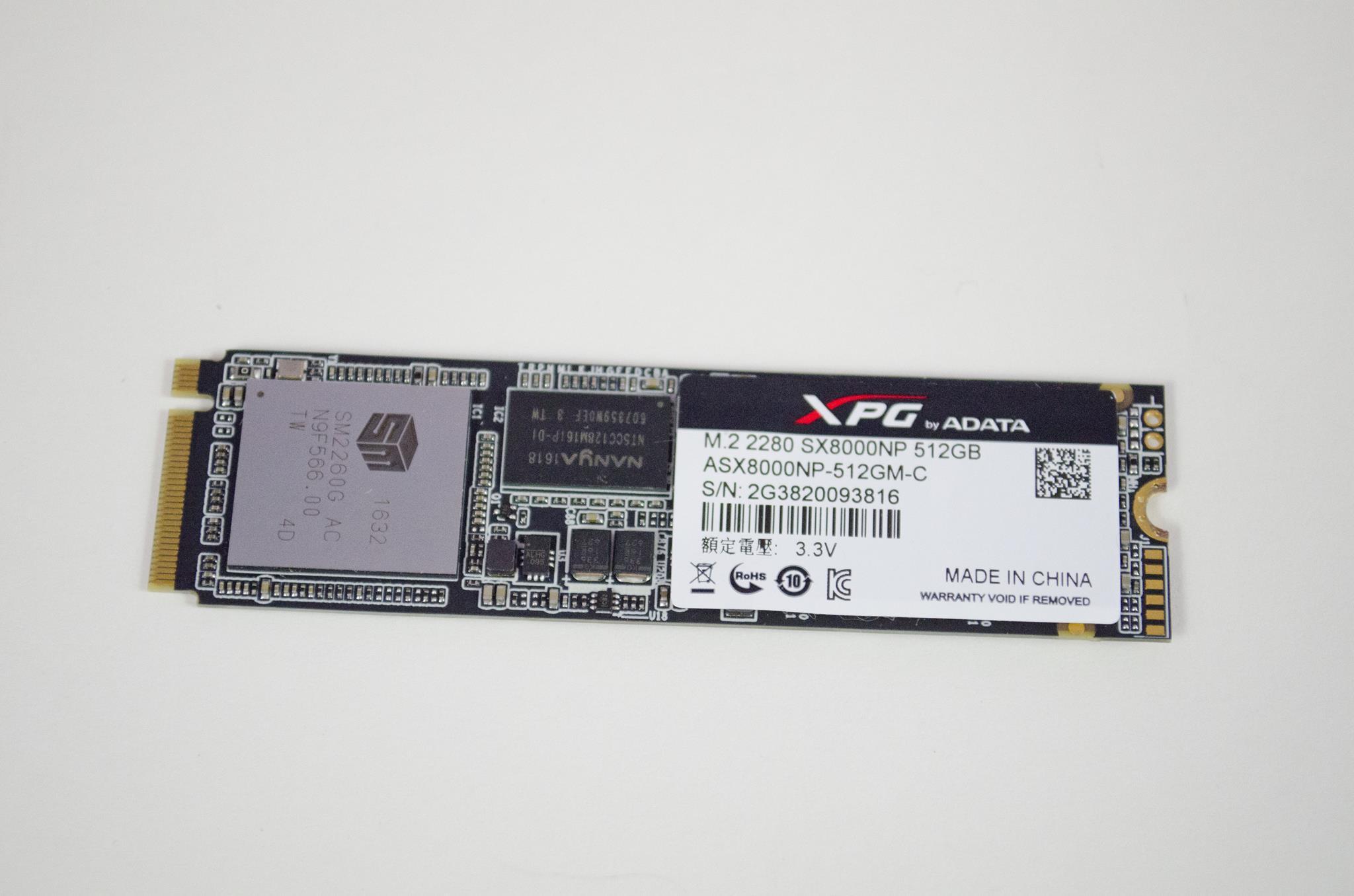 ADATA XPG SX8000 PCIe M 2 2280 512GB SSD Review - EnosTech com
