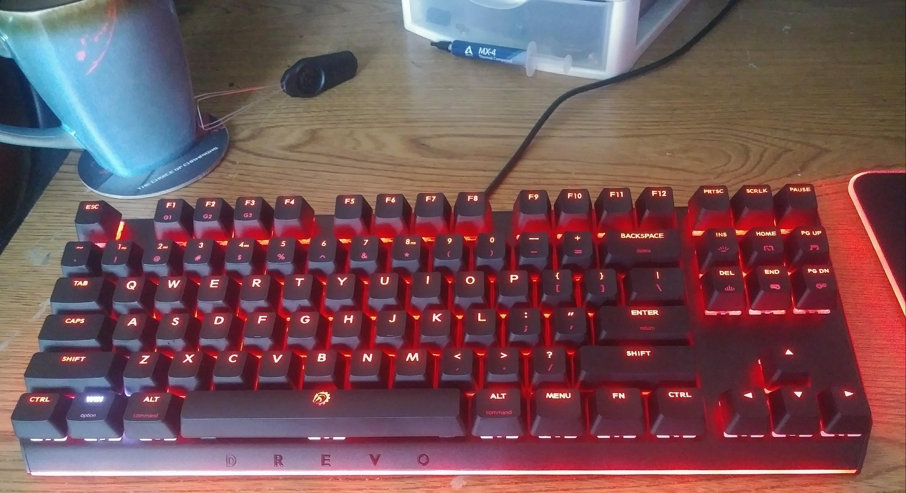 DREVO Blademaster TE 87-Key Mechanical RGB Keyboard with Genius-Knob
