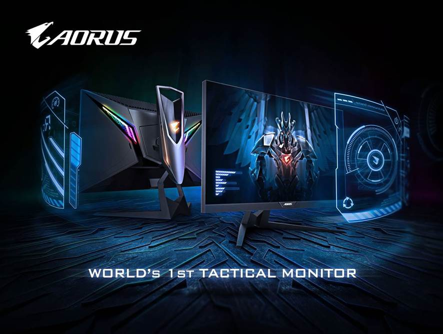 World's First Tactical Gaming Monitor  AORUS AD27QD Announced!