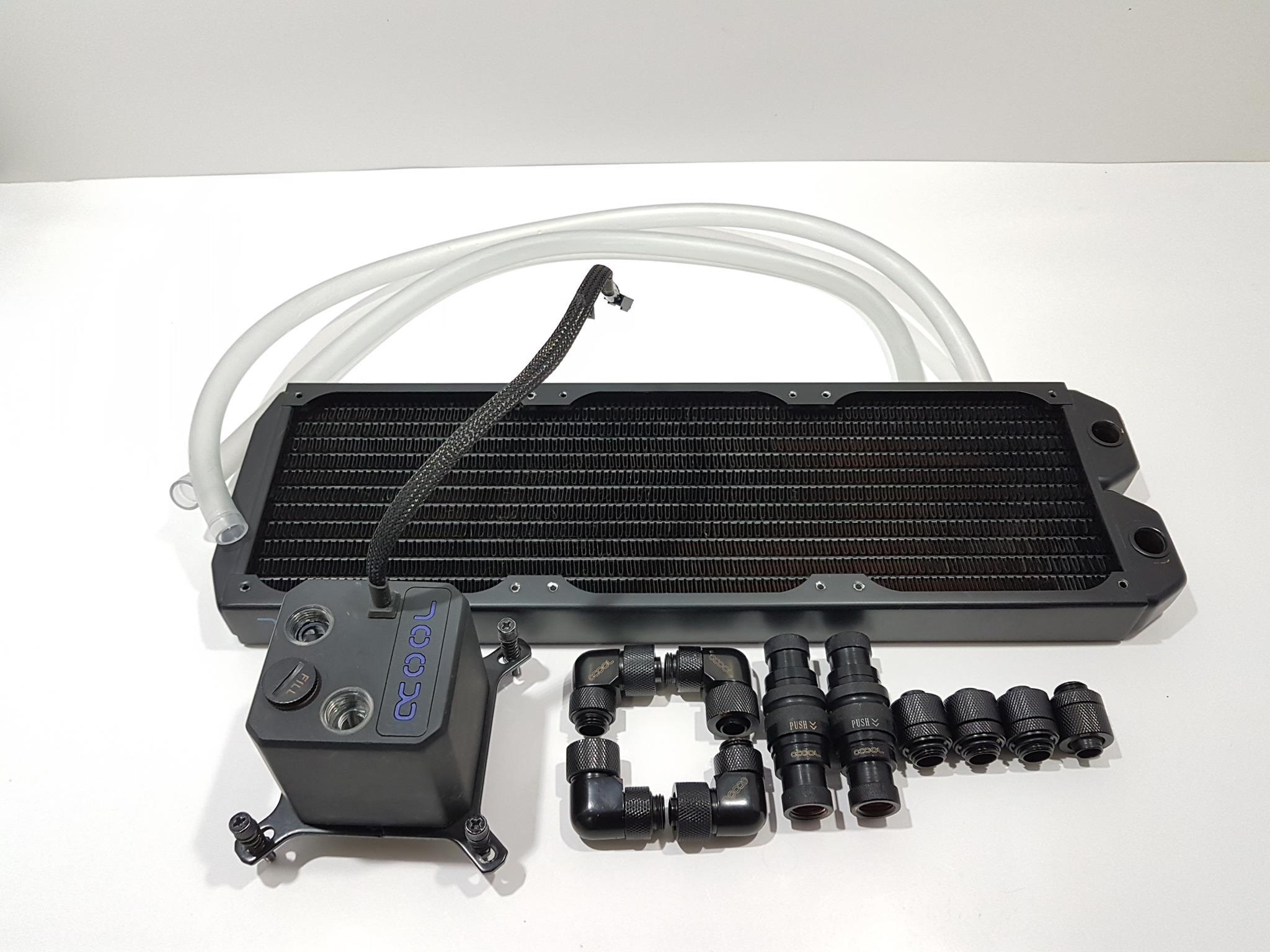 Full Copper G1//4 360mm 13 Tubes Computer Water Cooling Radiator CPU GPU Heatsink