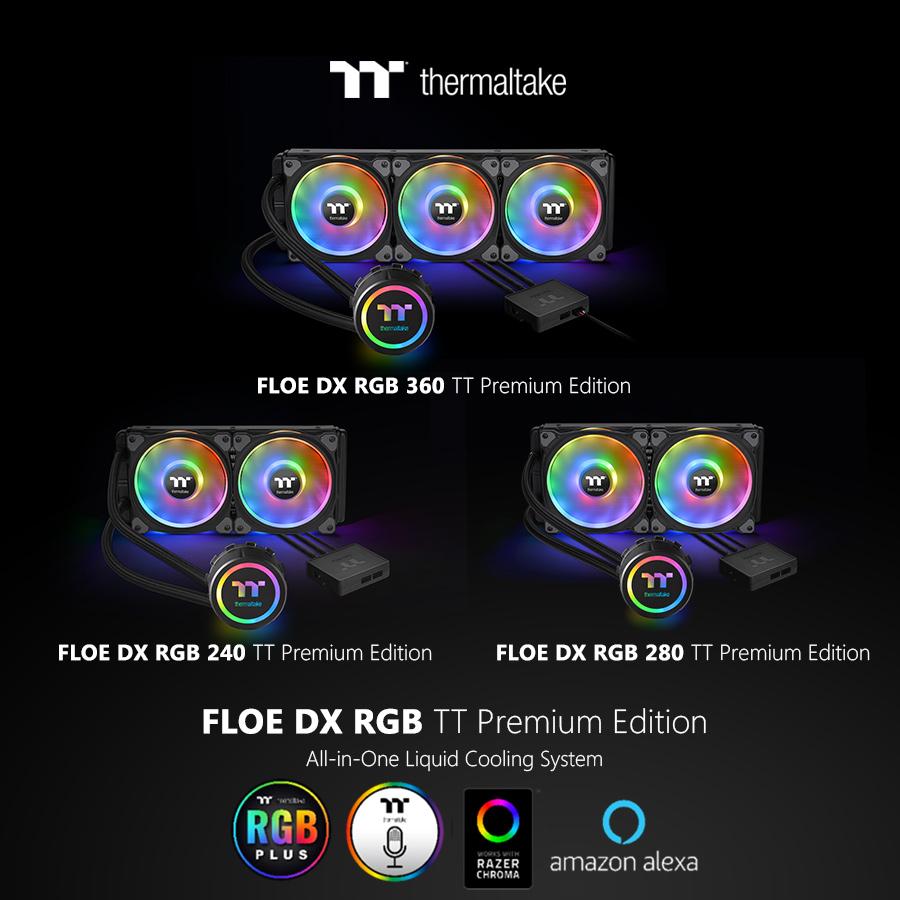 Thermaltake Announces Floe DX RGB Series TT Premium Edition