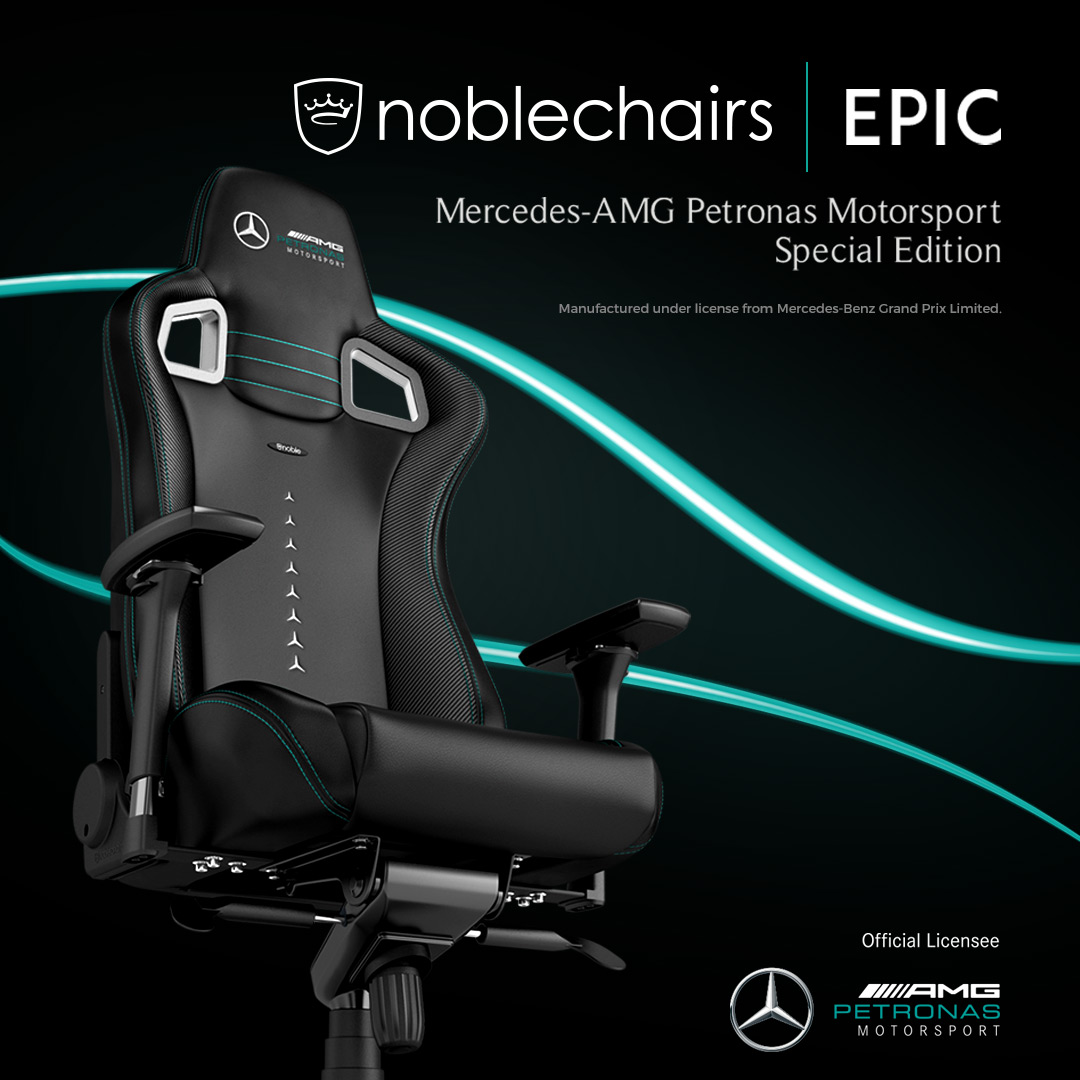 noblechairs introduces the official licensed gaming chair for the Mercedes-AMG Petronas Esports Team