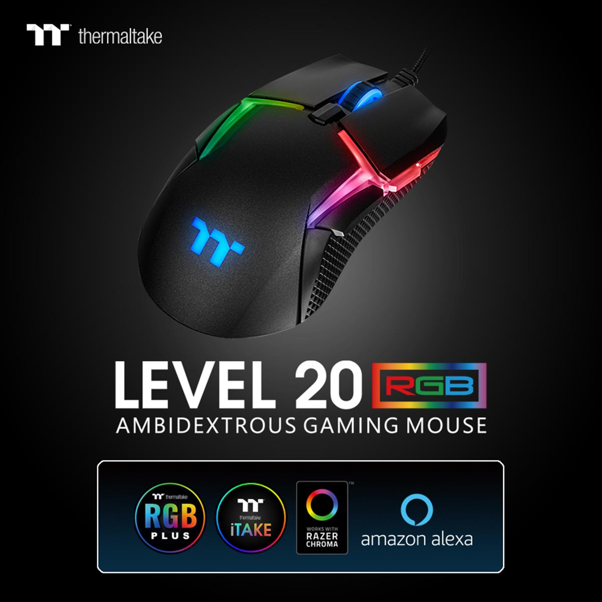 Thermaltake Launches its first Level 20 Gaming Mouse