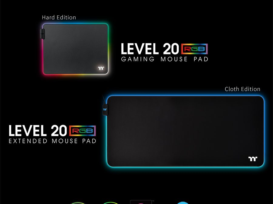 Thermaltake Announces Level 20 RGB Gaming Mouse  Pad Series,
