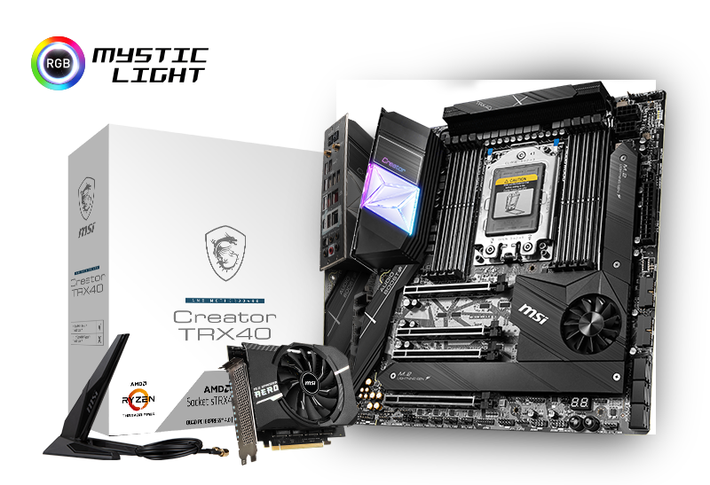 CREATE YOUR MOMENTS WITH MSI AMD TRX40 MOTHERBOARDS