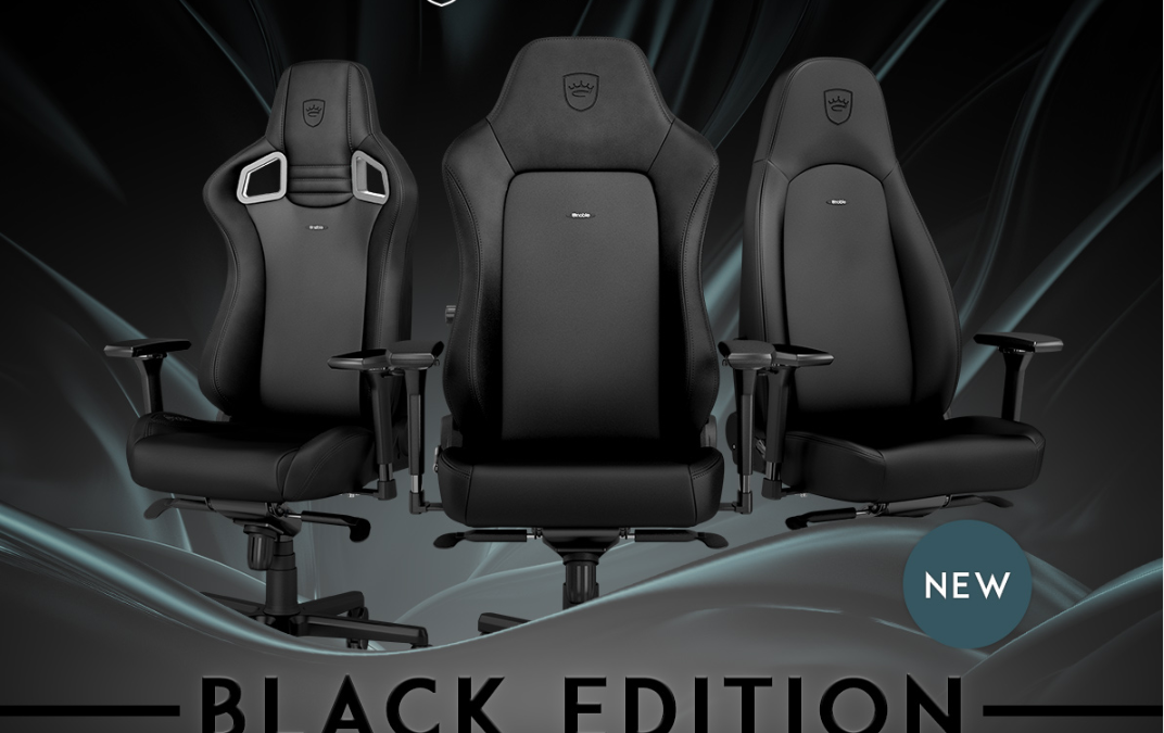 noblechairs New Black Edition Gaming Chairs – Always Breathing