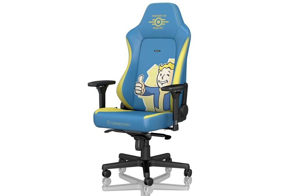 The Fallout Vault-Tec Edition gaming chair by noblechairs is now available to purchase!