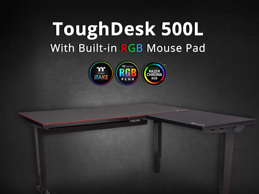 Thermaltake Introduces  the ToughDesk 500L RGB Battlestation Gaming Desk