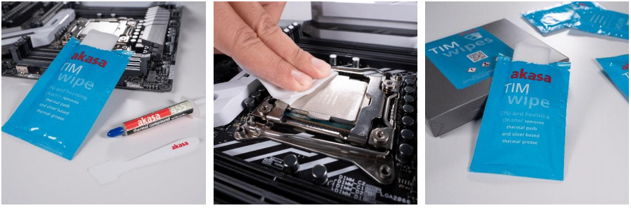 Akasa releases new TIM Wipes for easy thermal paste cleaning