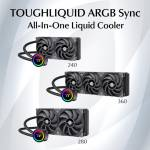 Thermaltake Announces TOUGHLIQUID 240/280/360 ARGB Sync All-In-One Liquid Coolers
